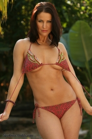**Photo Update 01/14/13 -  Tina  Wearing a cute brown bikini in the jungle but oh not for very long!**